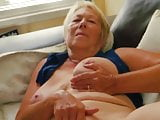 Granny rubs one off
