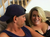 Playful plump girl seduces pretty man to bang her very well