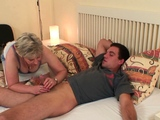 Wife finds old mother riding his cheating dick