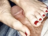 Wifes Soft Feet Squeezing My Cock