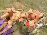 Granny hungarian piss outdoor