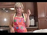 Mature Mom Fucks Young Son In The Kitchen