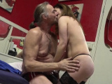 Spicy floosy Mirelle blows and gets fingered