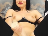 Hot Busty Babe Dildos Her Hole
