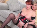 Busty matures Sonia and Red love to tease