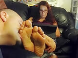Sucking terries toes sole worship