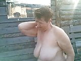 Russian granny in the country