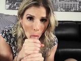 Milf hotel and threesome creampie eating Cory Chase in