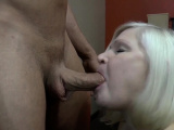 Granny sucks long shlong and gets banged