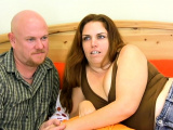 Thick brunette chick gets worked out by her fiance