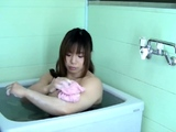 Hot Asian nymph solo shower