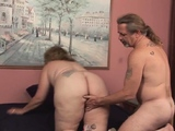 Breasty big woman bitch fucked in all of her holes by penis