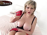 How long will you last with big tit mature Lady Sonia?