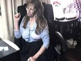 Horny granny being naughty on webcam