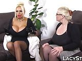 English dyke grandma spreads her pussy as she is licked