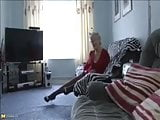 Classy Older Granny Strips and Plays