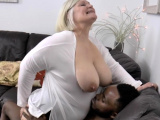 Grandmother sucks big black cock