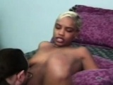 Amateur vintage ebony rimmed and fucked