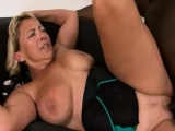 Busty gilf stuffed with fat black cock after sucking it