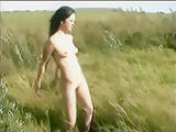 Retro Girl Masturbate Outdoor