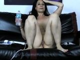 Mature with big hairy bush toying