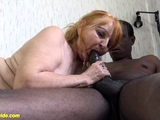 ugly old mom fucked by black stepson