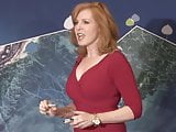 Lusty Busty Liz in sexy red dress
