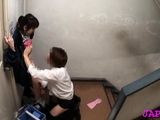Japanese mature sweetheart gets her moist cum-hole fingered