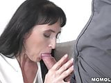 Black haired almost GILF plowed