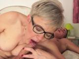 Older lady cunt eaten out