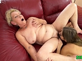Lesbian sex with granny