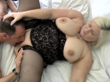 Shlong sucking granny gets pussy eaten