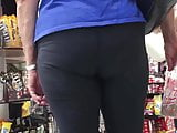 Grocery Store Mature Booty In Line