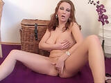 Busty MILF masturbating before i fuck her brains out