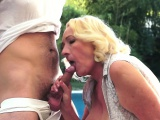 Granny with her lover boys cock