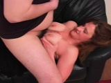 Fat MILF Cum On Boobs In Living Room Is Fun For Her
