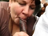 Amateur granny gives a nice blowjob