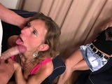 Wife watches he fucks small tits mother in law