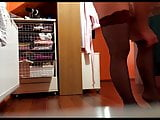 Mature wife caught by hiddencam dressing up sexy stockings