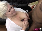 Granny sucks black shlong and gets banged
